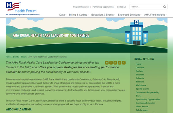 AHA RURAL HEALTH CARE LEADERSHIP CONFERENCE 2019